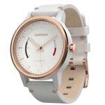 Garmin Vivomove Classic White Rose Gold-Tone with Leather Band