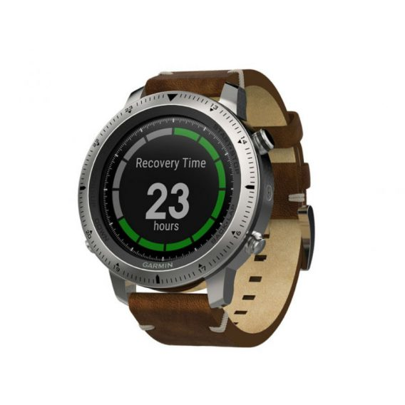 Garmin fenix Chronos - Steel with Vintage Leather Watch Band 1